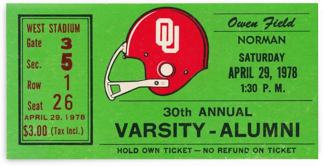 1978 Oklahoma Sooners Varsity Alumni Game by Row One Brand