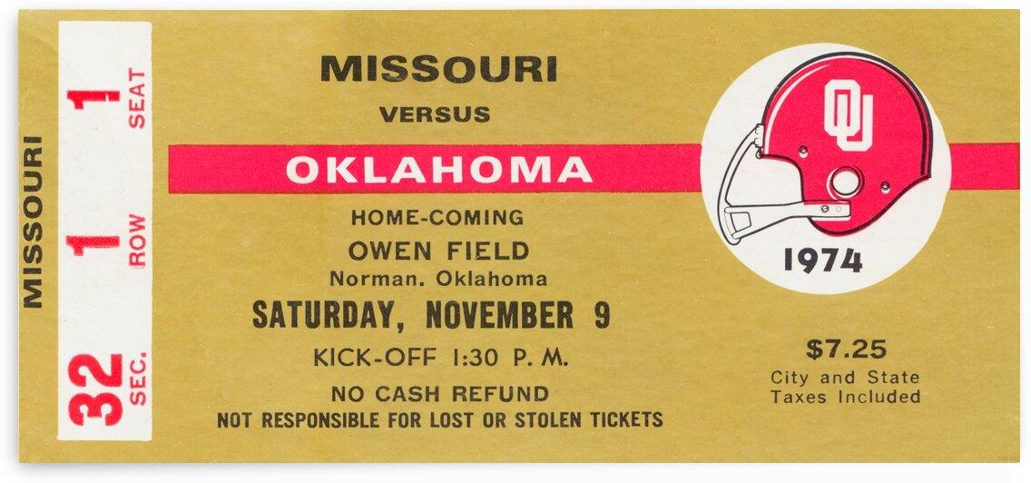 1974 Oklahoma vs. Missouri by Row One Brand