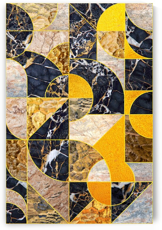 Geometric Marble I - Vertical by Art Design Works
