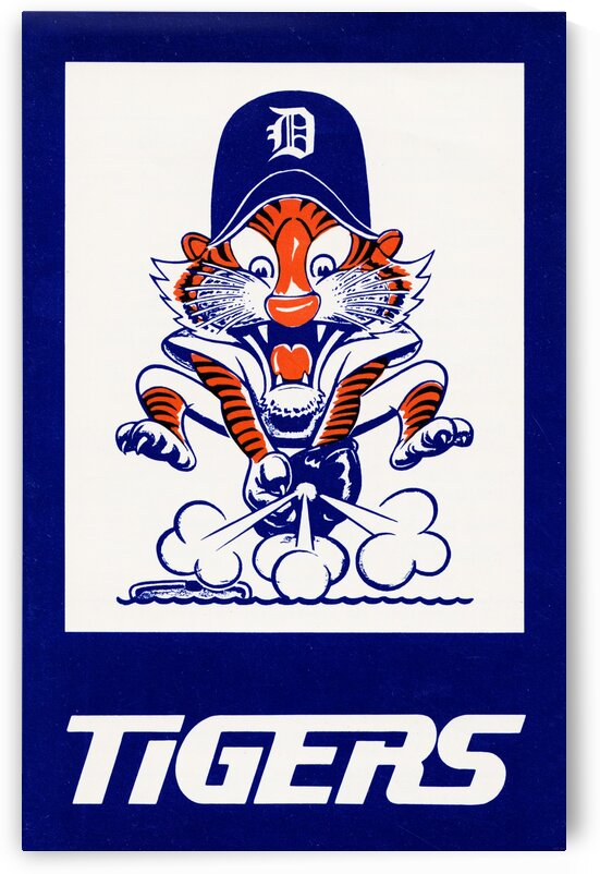 1972 Detroit Tigers Art by Row One Brand