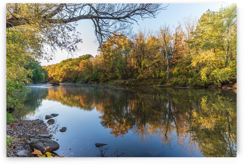 Autumn morning on the Grand River at Mechanicsville Ohio by The Feather Cottage