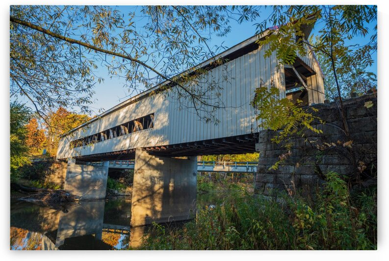 Mechanicsville covered bridge over Grand River Ohio by The Feather Cottage