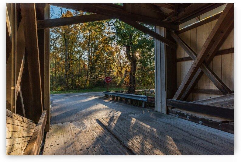 Portal of Mechanicsville covered bridge Ashtabula County Ohio by The Feather Cottage