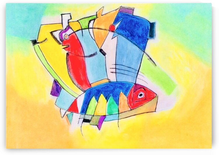 The Flying Fish  by Zaramar Paintings