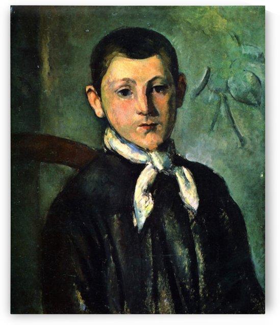 Portrait of Lois Guillaime by Cezanne by Cezanne