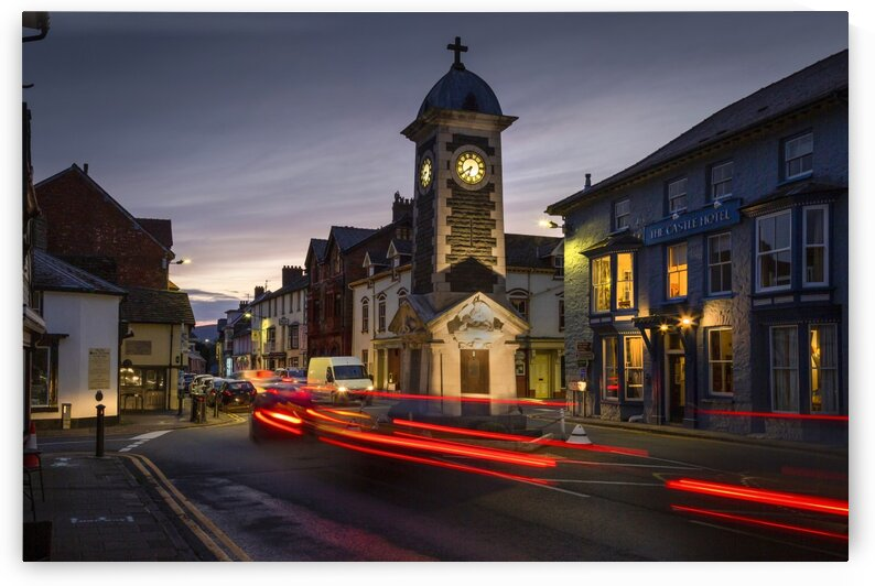Rhayader town clock tower by Leighton Collins