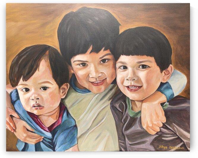 Three Little Brothers by JIHYE DESJADON