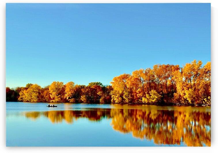 Autumn Canoe by Lisa Drew Minneapolis Photo Artist