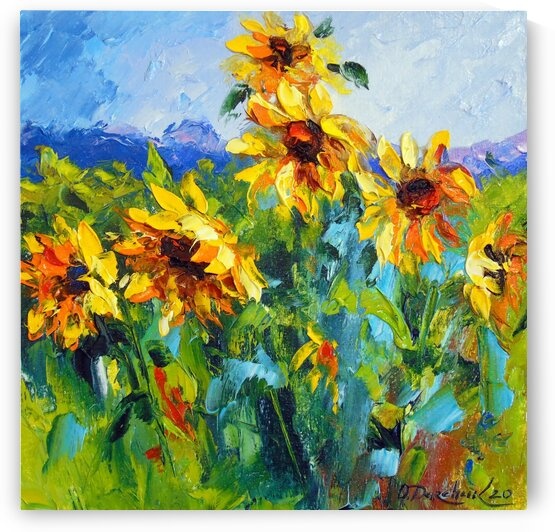 Sunflowers and wind  by Olha Darchuk