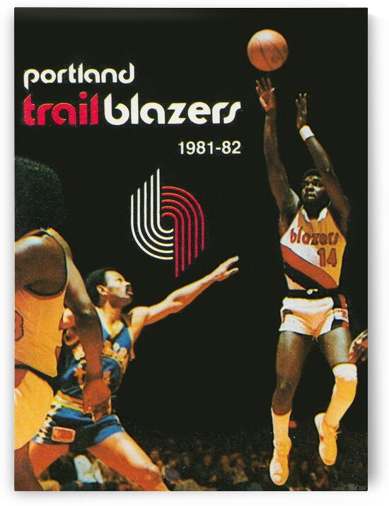 1981 Portland Trailblazers Art by Row One Brand
