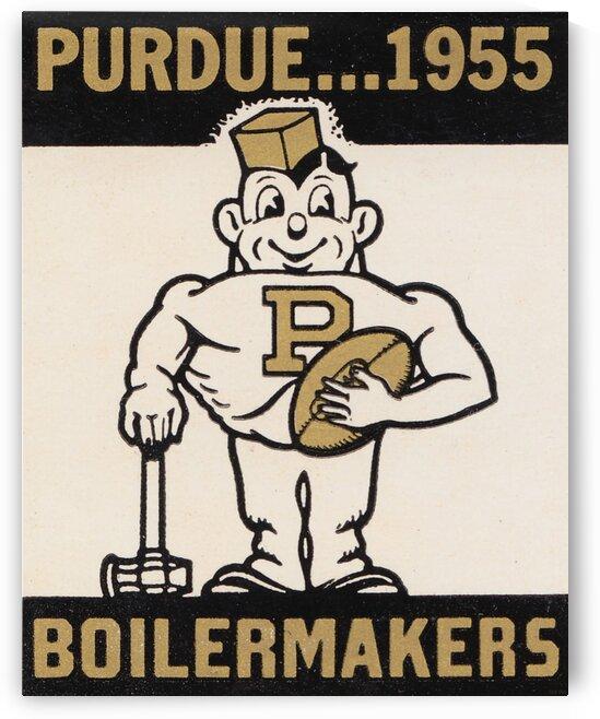 Vintage Purdue Boilermakers Art Print by Row One Brand