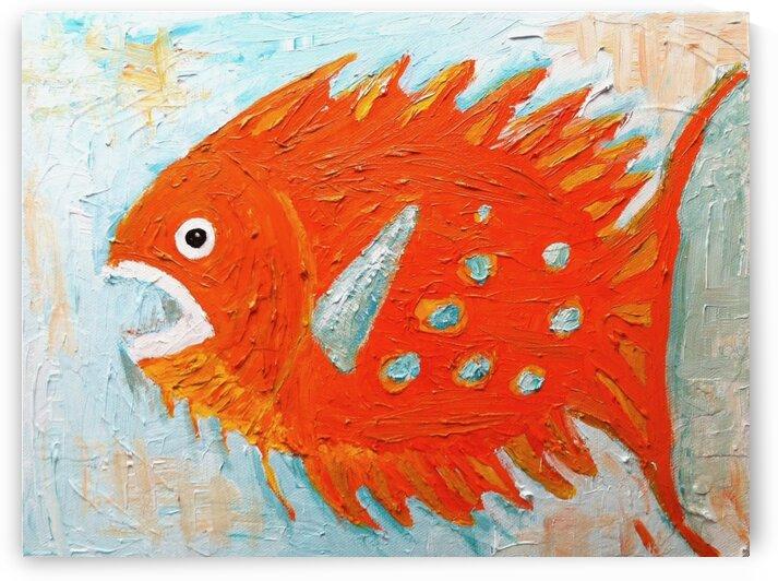 orange fish by Reiter Art Works