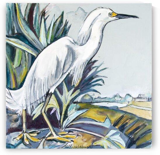 Louisiana Snowy White Egret by Caroline Youngblood