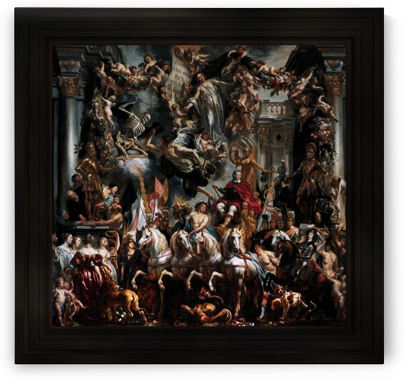 The Triumph of Frederik Hendrik Prince of Orange by Jacob Jordaens I Classical Art Old Masters Reproduction by xzendor7