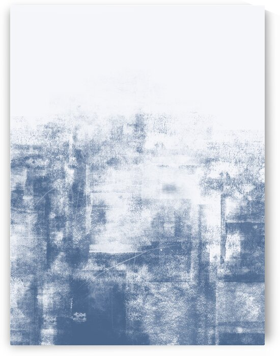 Shabby Abstract 103 navy and white by Imre Toth