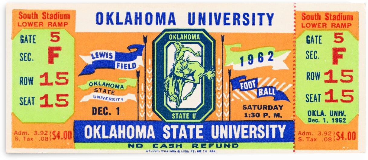 1962 Oklahoma vs. Oklahoma State by Row One Brand