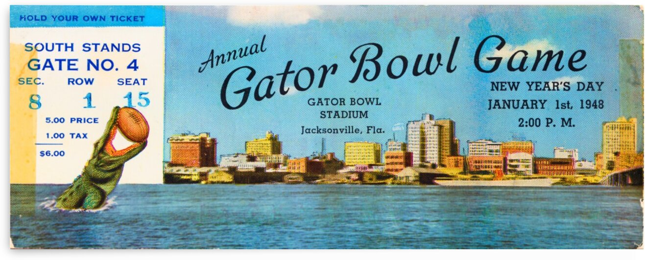 1948 Gator Bowl Georgia vs. Maryland by Row One Brand