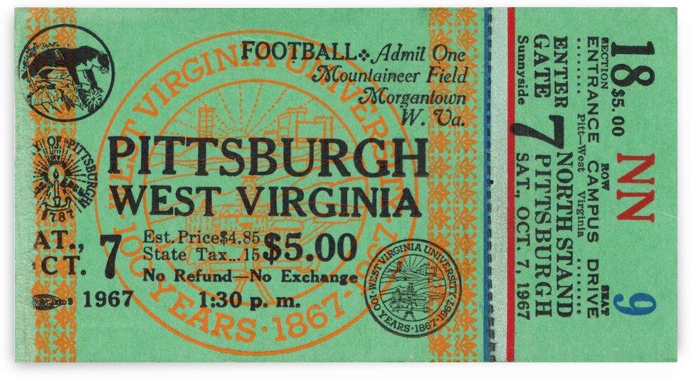 1967 West Virginia vs. Pitt by Row One Brand