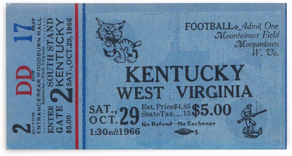 1967 Kentucky vs. West Virginia by Row One Brand