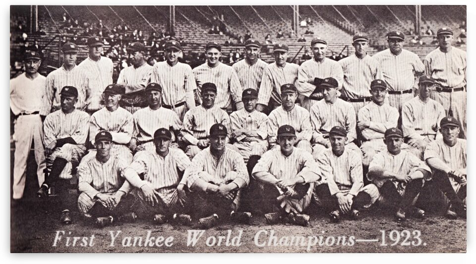 1923 New York Yankees Team Photo by Row One Brand