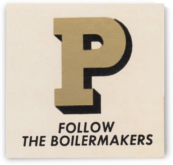 1955 Purdue Boilermakers Art by Row One Brand