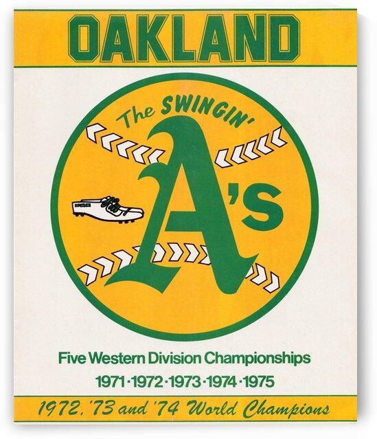 1979 Oakland Baseball Art by Row One Brand