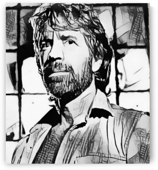 martial artist actor film producer Icon Chuck Norris poster art   by Smithson