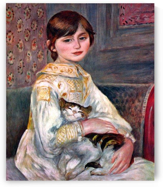 Portrait of Mademoiselle Julie Manet by Renoir by Renoir