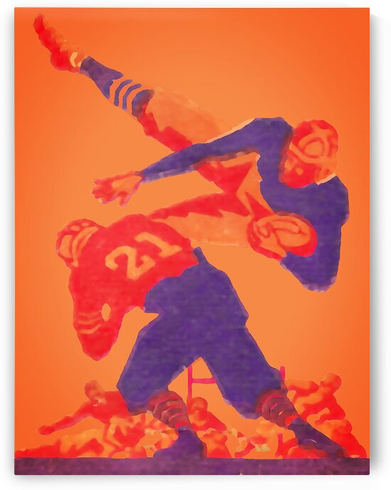 1932 Vintage Football Art by Row One Brand