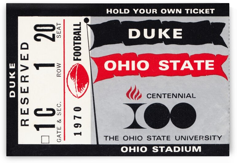 1970 Ohio State vs. Duke by Row One Brand