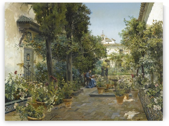 Spanish garden in Seville by Manuel Garcia y Rodriguez