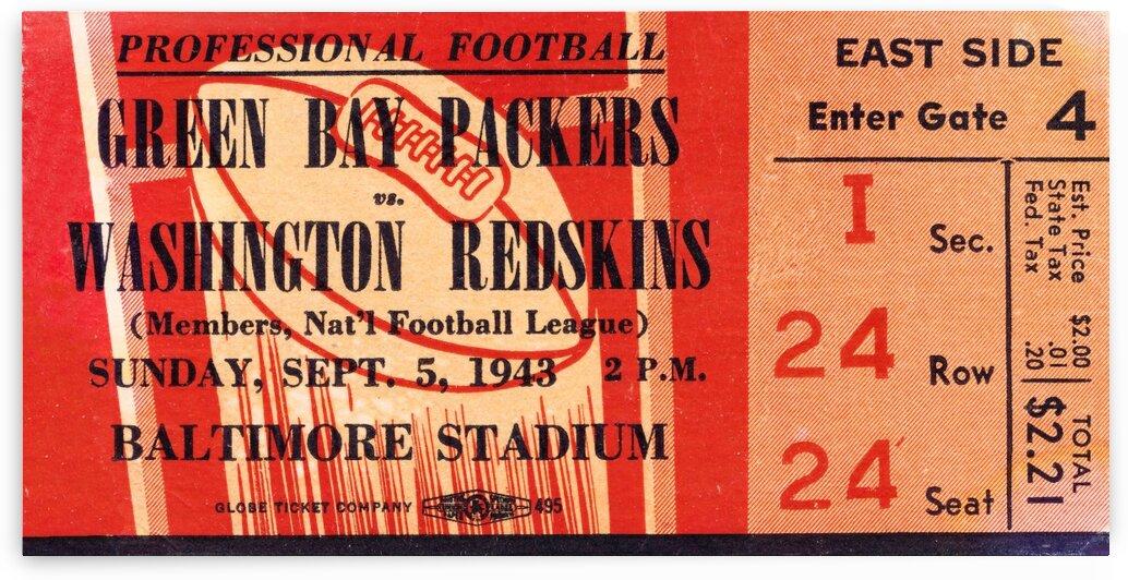 1943 Green Bay Packers vs. Washington by Row One Brand