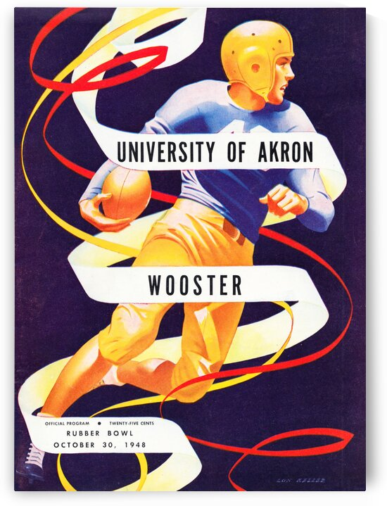 1948 Akron vs. Wooster by Row One Brand