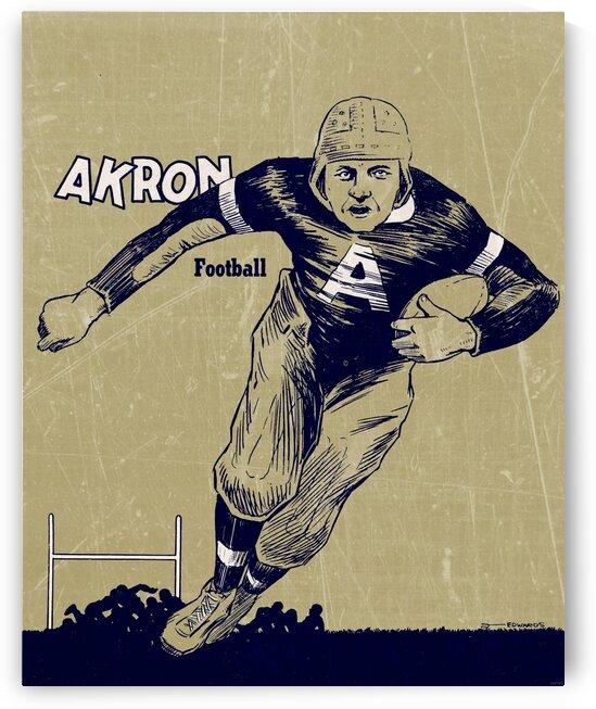 1948 Vintage Akron Football Art Print by Row One Brand