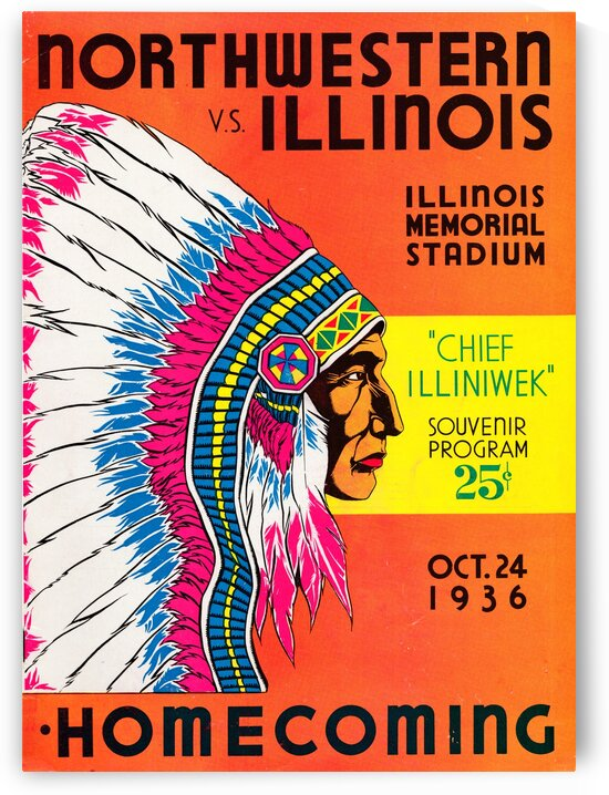 1936 Northwestern vs. Illinois by Row One Brand
