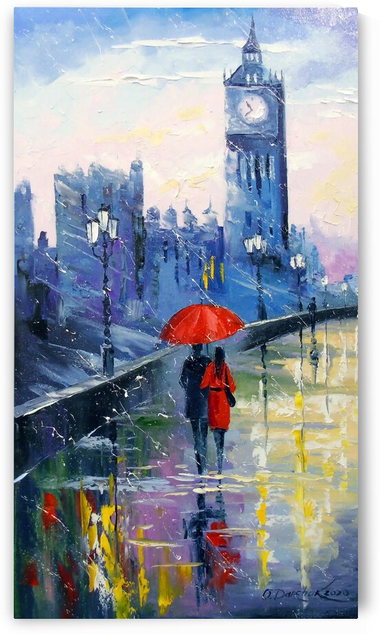 Rain in London by Olha Darchuk
