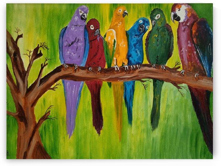 parrots by Abha Lakhotia Bangard