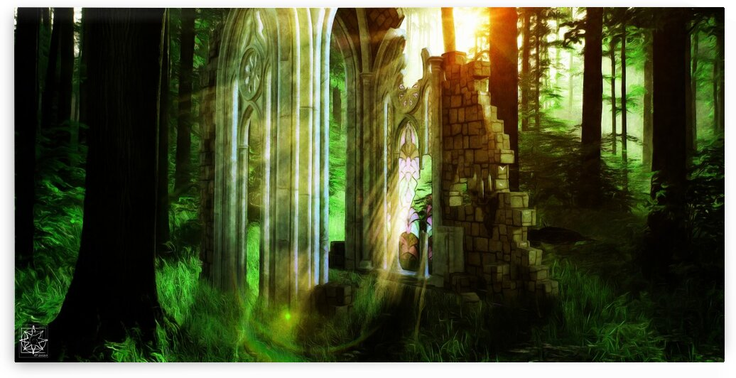 The Forest Vale Ruins by ChrisHarrisArt