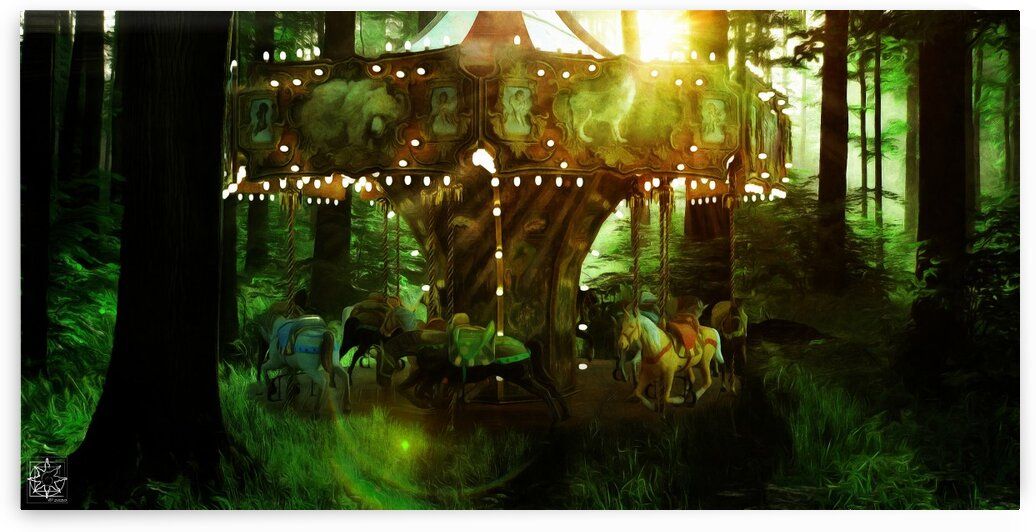 The Forest Vale Carousel by ChrisHarrisArt