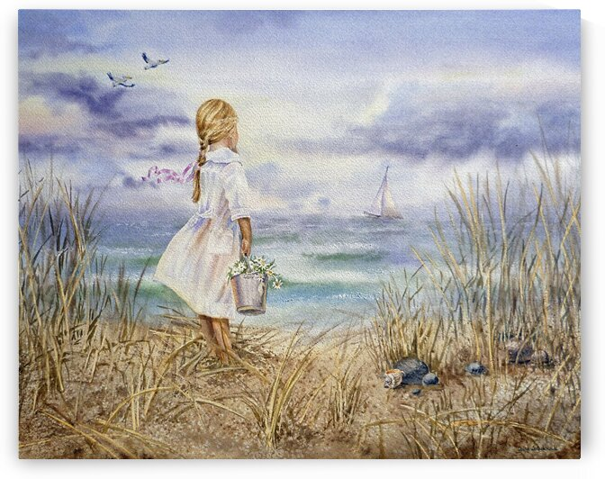 Art Collectors Favorite Girl And Ocean Painting  by Irina Sztukowski