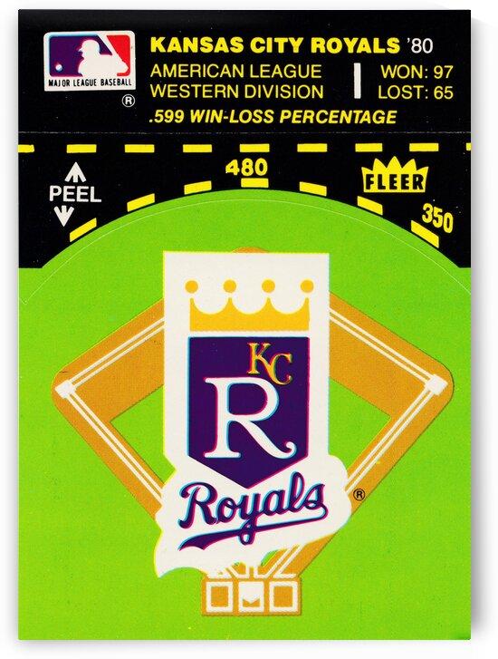 1981 kansas city royals fleer sticker prints by Row One Brand