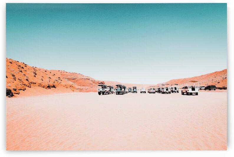 Parking lot in the desert at Antelope Canyon Arizona USA by TimmyLA