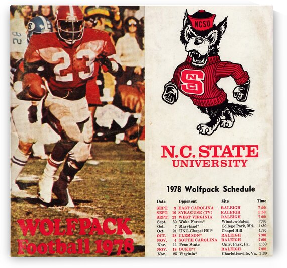 1978 north carolina state football collage by Row One Brand