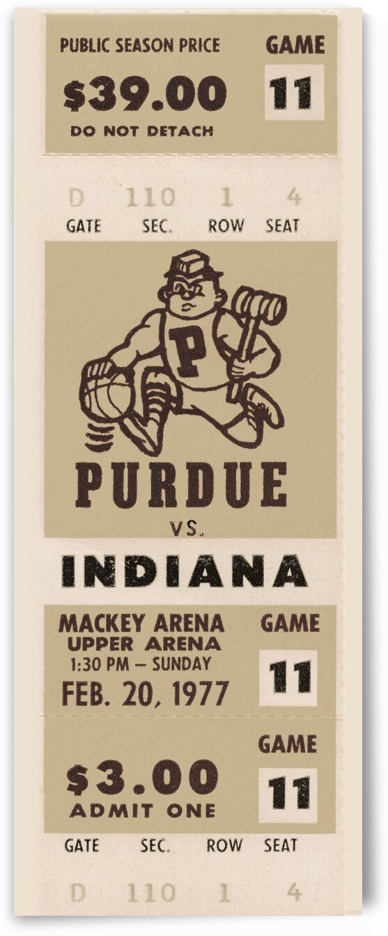 1977 Purdue vs. Indiana Basketball by Row One Brand