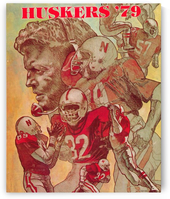 1979 Nebraska Huskers Football Poster by Row One Brand