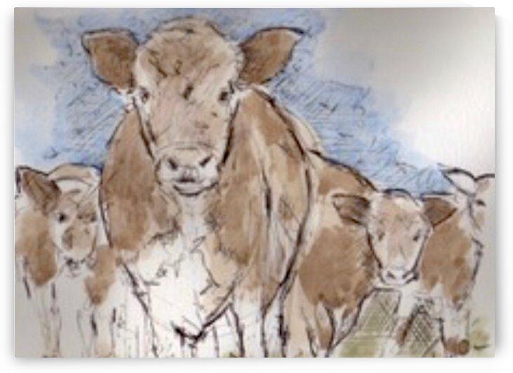 Normandy Cows  by LeGustavienne