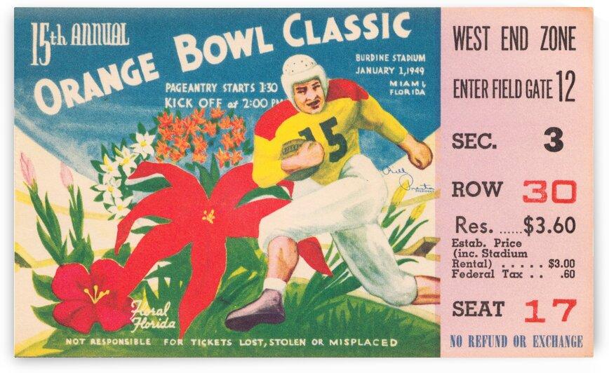 1949 Orange Bowl Georgia vs. Texas by Row One Brand