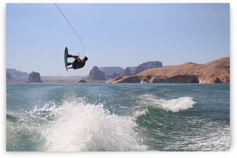 Lake Powell Wakeboarding by Jenni OBrien