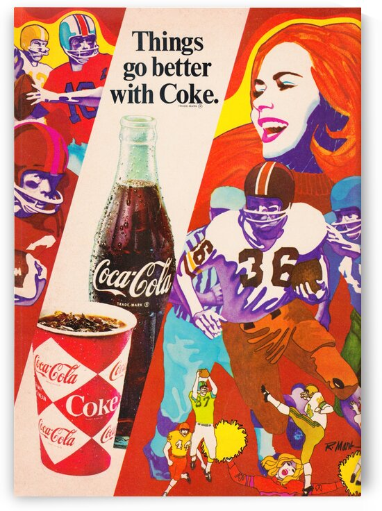 Retro Coke Football Ad by Row One Brand