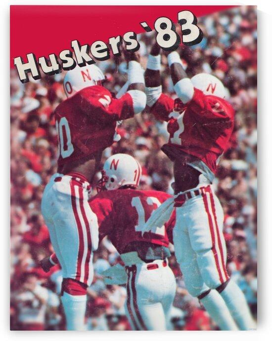 1983 Nebraska Cornhuskers Football Art by Row One Brand
